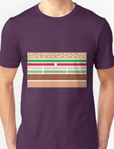 Retro hamburger Unisex T-Shirt