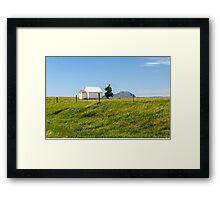 Little School On The Prairie  Framed Print
