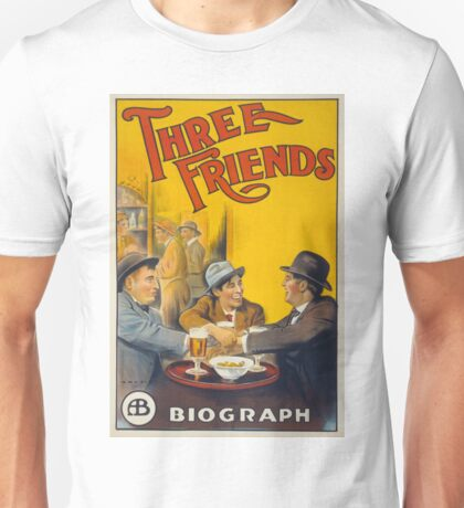 Vintage Biograph Studios Three Friends Movie Unisex T-Shirt