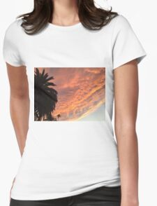 Northern California sunset Womens Fitted T-Shirt