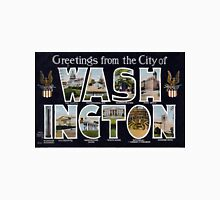 Vintage Greetings From the City of Washington Unisex T-Shirt