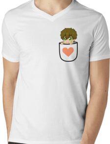 Pocket Makoto Tachibana Chibi Peach heart Mens V-Neck T-Shirt
