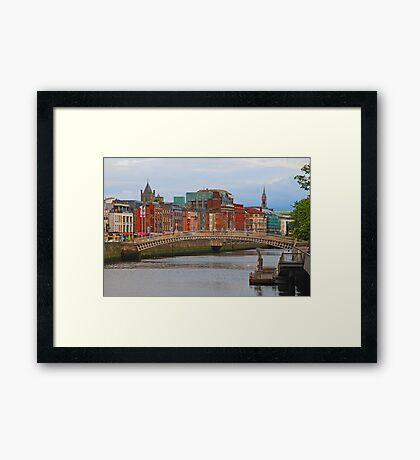 Dublin On The River Liffey Framed Print