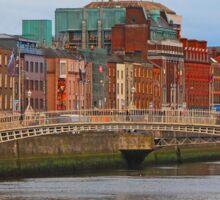 Dublin On The River Liffey Sticker
