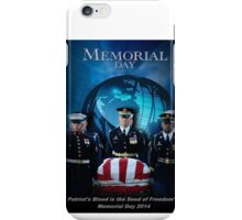 Memorial Day - Patroit's Blood iPhone Case/Skin