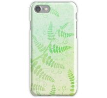 Watercolor illustration with green brunches iPhone Case/Skin
