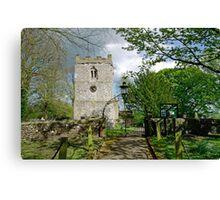 St Leonard's Church, Thorpe, Derbyshire Canvas Print