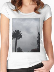 Before the Storm - Southern California gloomy day Women's Fitted Scoop T-Shirt