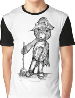 Witch Bear with Deluxe Broom Graphic T-Shirt