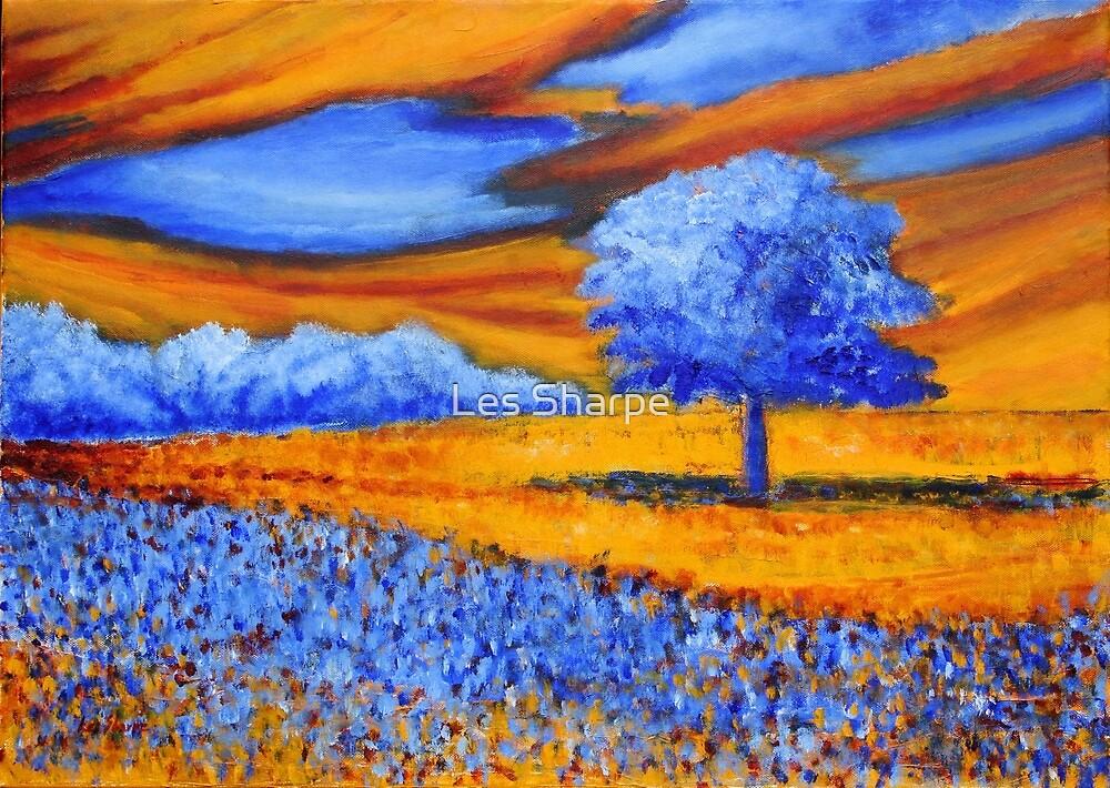 Blue Tree by Les Sharpe