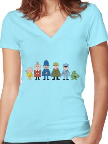 Bod and friends Women's Fitted V-Neck T-Shirt