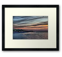 Sunset on Cromer Cliffs Framed Print