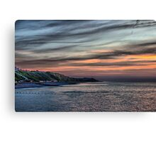 Sunset on Cromer Cliffs Canvas Print