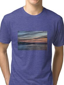 Sunset on Cromer Cliffs Tri-blend T-Shirt