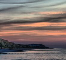 Sunset on Cromer Cliffs Sticker