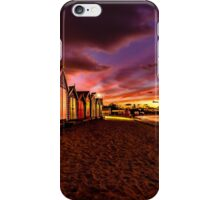 Brighton Beach Bathing Boxes iPhone Case/Skin