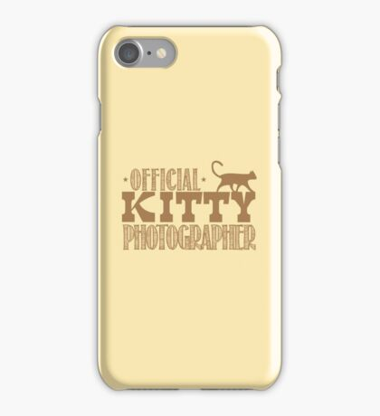 Official KITTY photographer iPhone Case/Skin