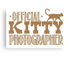 Official KITTY photographer Canvas Print