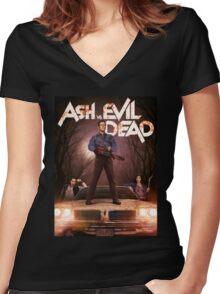 Ash vs Evil dead tv series Women's Fitted V-Neck T-Shirt