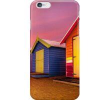 Brighton Beach Bathing Boxes Sunset  iPhone Case/Skin