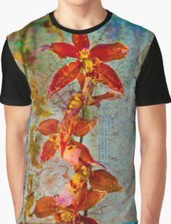 Orchid Vintage Montage Graphic T-Shirt