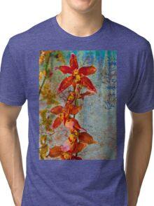 Orchid Vintage Montage Tri-blend T-Shirt