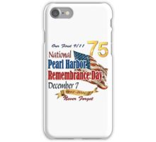 Pearl Harbor Day 75th Anniversary Logo iPhone Case/Skin
