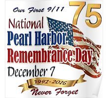 Pearl Harbor Day 75th Anniversary Logo Poster