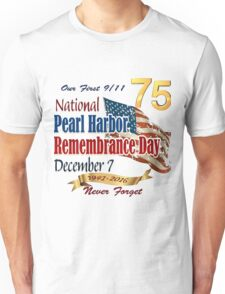 Pearl Harbor Day 75th Anniversary Logo Unisex T-Shirt