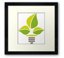 Eco Lightbulb Framed Print
