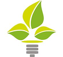 Eco Lightbulb Photographic Print