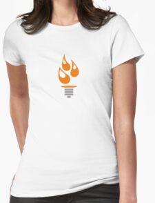 Oil Lightbulb Womens Fitted T-Shirt