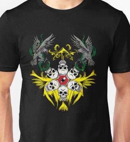 Circle of Skulls Evil Eye and Hawks Unisex T-Shirt