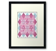Feminism: What Does It Mean? Framed Print