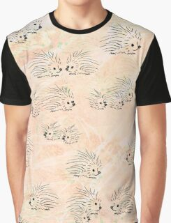 Everything is Peachy Porcupines Graphic T-Shirt