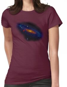 Meanwhile, somewhere in the Universe... Womens Fitted T-Shirt
