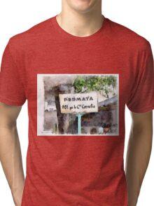 Bus stop cartel Tri-blend T-Shirt