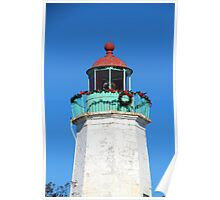 Old Point Comfort Lighthouse at Christmas Poster