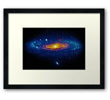 Meanwhile, somewhere in the Universe... Framed Print