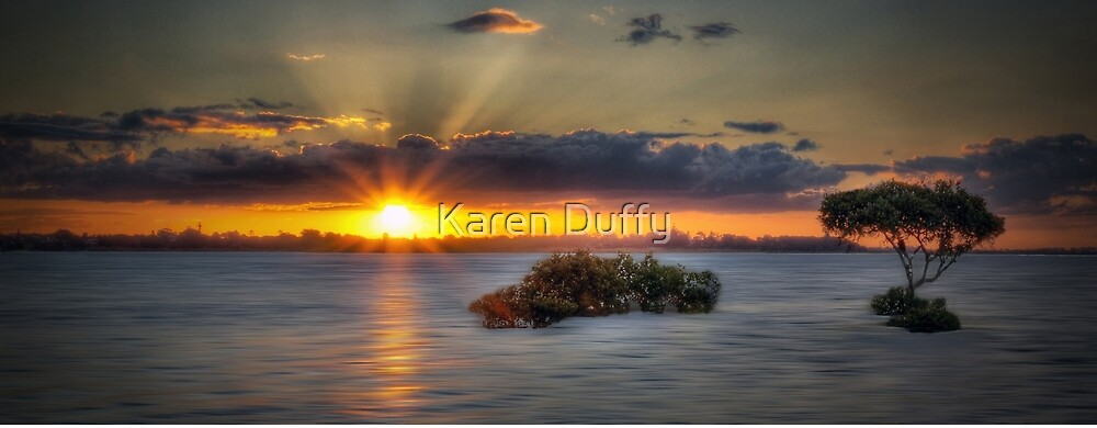 CLEV4.     Sunset at Cleveland Point (Australia) by Karen Duffy