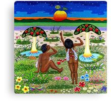 apple-emergence in paradise - drosera weisse Canvas Print