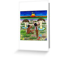 apple-emergence in paradise - drosera weisse Greeting Card