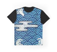 Japanese Wave Design Graphic T-Shirt