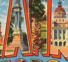 Vintage Colorful Greetings From Savannah Georgia Sticker
