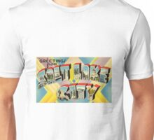 Vintage Colorful Greetings From Salt Lake City Unisex T-Shirt