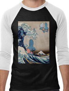Mudkip Wave Men's Baseball ¾ T-Shirt
