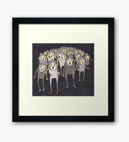 Zombie Elves Framed Print