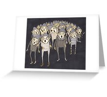 Zombie Elves Greeting Card