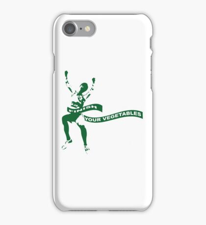 Finish Your Vegetables iPhone Case/Skin