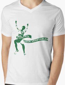 Finish Your Vegetables Mens V-Neck T-Shirt